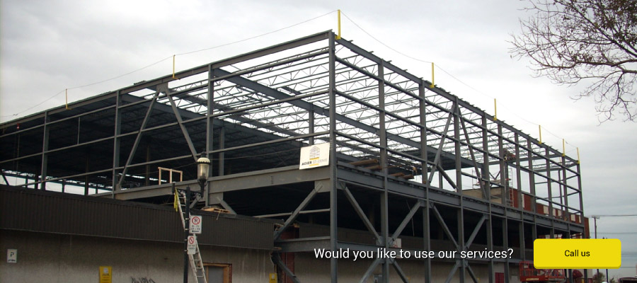 Would you like to use our services? Steel structure