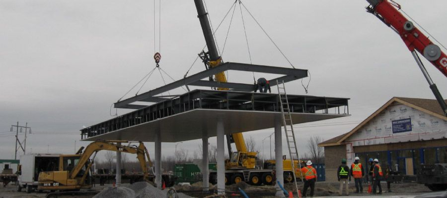 Suspended steel structure