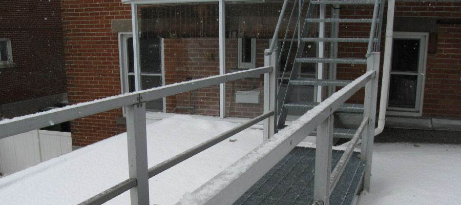 Steel structure in winter